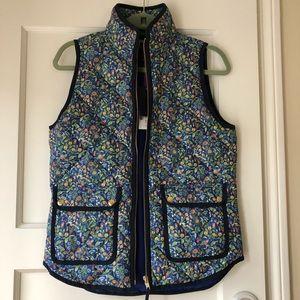 JCrew excursion vest in liberty art floral, XS